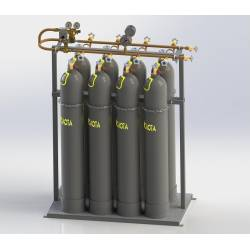 Cylinder for industrial gases, container type