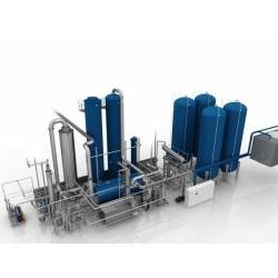 Plant for CO2 extraction from flue gases