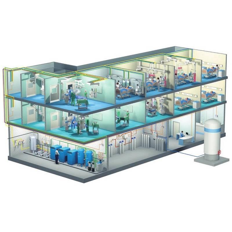 Комплексное оснащение системами медицинского газоснабжения