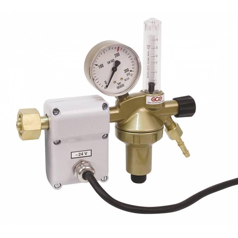 Heated carbon dioxide pressure regulator DINCONTROL