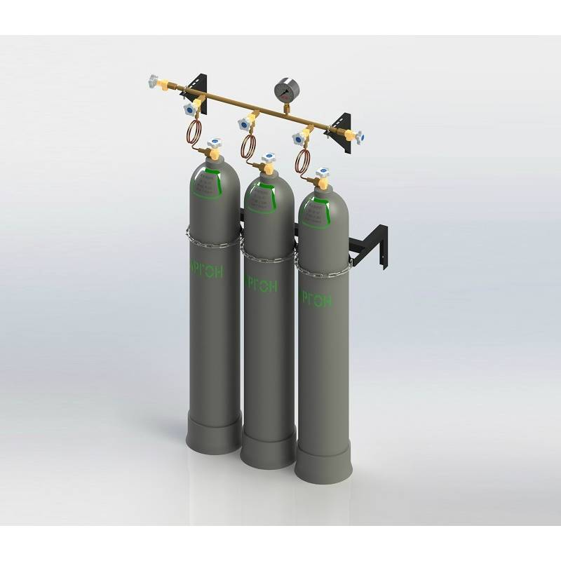 Cylinder filling manifold for industrial gases